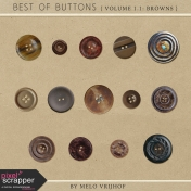 Best Of Buttons- Volume 1.1: Brown