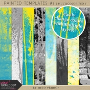 Painted Paper Templates #1- Multicolor