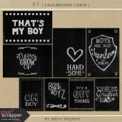 XY- Chalkboard Journal Cards