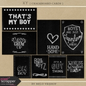 XY- Chalkboard Journal Cards