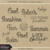 Summer Splash- Word Stamps