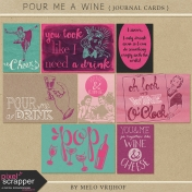 Pour Me A Wine- Journal Cards