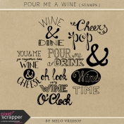 Pour Me A Wine- Word Stamps