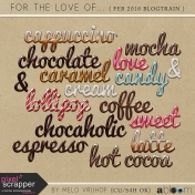 For The Love- Wordart