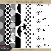 Paper Templates- Stars And Dots