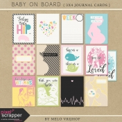 Baby On Board- Journal Cards 3x4