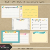 Baby On Board- Journal Cards 6x4