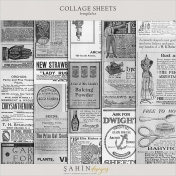 Vintage Collage Sheet Templates