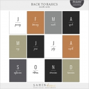 Back to Basics Month Cards