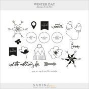 Winter Day Stamps & Cut Files