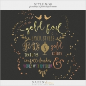 Style No.58: Gold Foil & Confetti Brushes