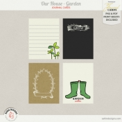 Our House- Garden, Journal Cards