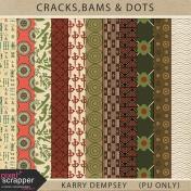 Cracks, Bams & Dots- Patterned Pappers