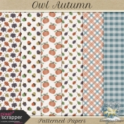 Owl Autumn Patterned Papers