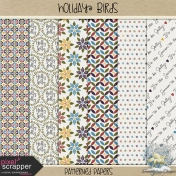 Holiday Birds- Patterned Papers