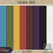 Holiday Birds- Solid Papers