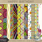 Happy Birthday- patterned papers