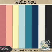 Hello You Textured Solid Papers