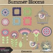 Summer Blooms Elements