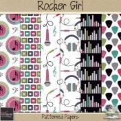 Rocker Girl_patterned papers