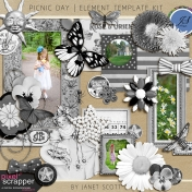 Picnic Day- Element Template Kit