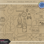 Picnic Day- Doodle Template Kit 1