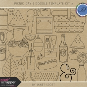 Picnic Day- Doodle Template Kit 2