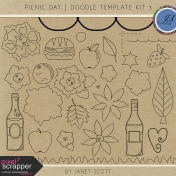 Picnic Day- Doodle Template Kit 3