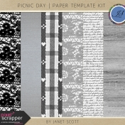 Picnic Day- Paper Template Kit