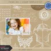 Picnic Day- Stamp Template Kit