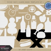 Picnic Day- Shape Mask Template Kit 1