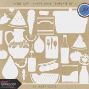 Picnic Day- Shape Mask Template Kit 2