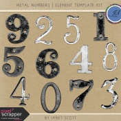 Metal Numbers Element Template Kit