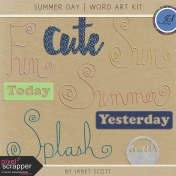 Summer Day- Word Art Kit