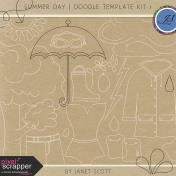 Summer Day- Doodle Template Kit 1