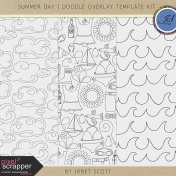 Summer Day- Doodle Overlay Template Kit