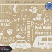 Back to Nature- Word Art Phrase Kit