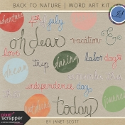 Back To Nature- Word Art Kit