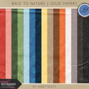 Back To Nature- Solid Paper Kit
