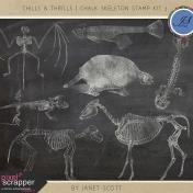 Chills & Thrills- Chalk Skeleton Stamp Kit 3