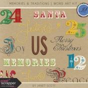 Memories & Traditions- Word Art Kit