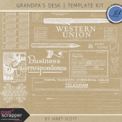 Grandpa's Desk- Stamp Template Kit