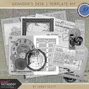 Grandpa's Desk- Template Kit