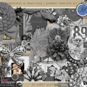 Memories & Traditions- Element Template Kit