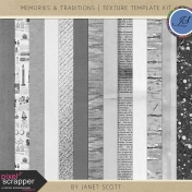 Memories & Traditions- Texture Template Kit