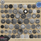 Memories & Traditions- Button Template Kit