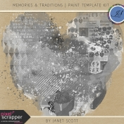 Memories & Traditions- Paint Template Kit