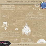 Memories & Traditions- Stamp Template Kit