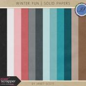 Winter Fun- Solid Paper Kit