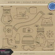 Winter Day- Doodle Template Kit 1